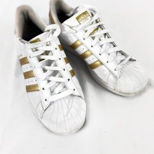 Adidas Superstar Womens Shoes 5.5 White